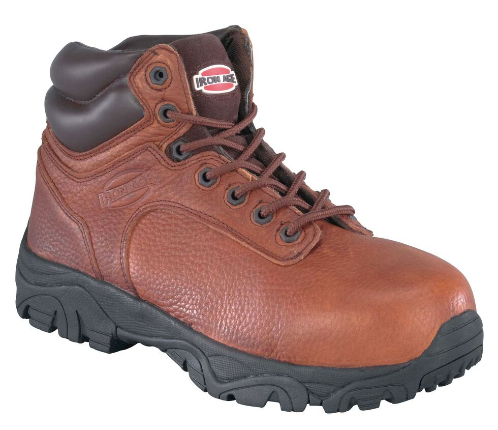 Iron Age Men's Trencher Non-Metallic Work Boots - Composite Toe , Brown, hi-res