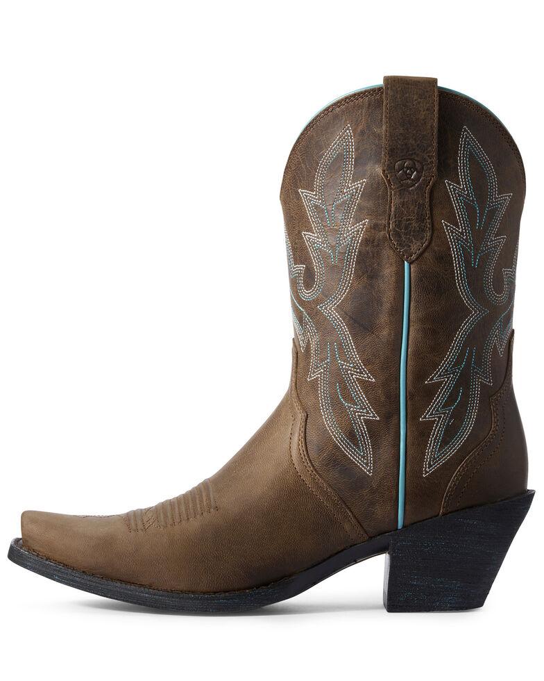 Ariat Women's Round Up Bella Western Boots - Snip Toe, Brown, hi-res