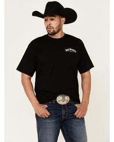 Jack Daniels' Men's Old #7 Flag Logo Graphic Short Sleeve T-Shirt , Black, hi-res