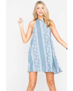 Sage the Label Women's Gemma Dress , Blue, hi-res