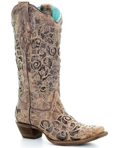 Corral Women's Aracely Western Boots - Snip Toe, Brown, hi-res