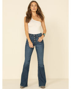 Ariat Women's R.E.A.L. Irvine Polly High Rise Flare Jeans , Blue, hi-res