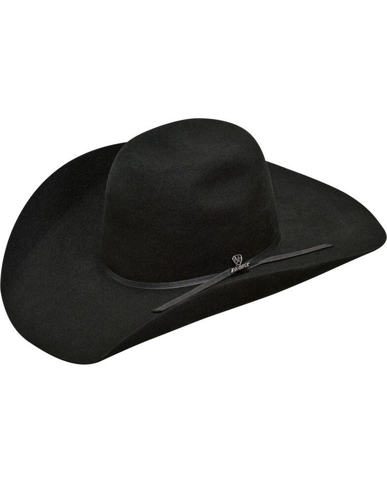 Ariat Men's  2X Wool Hat Punchy Crown Western Hat, Black, hi-res