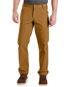 Carhartt Men's Rugged Flex Work Pants, Brown, hi-res