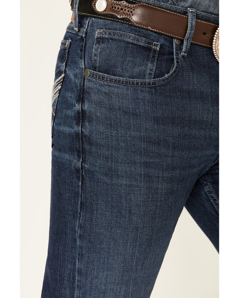 Wrangler 20X Men's No.44 Blue Bonnet Dark Stretch Slim Straight Jeans - Big & Tall , Blue, hi-res