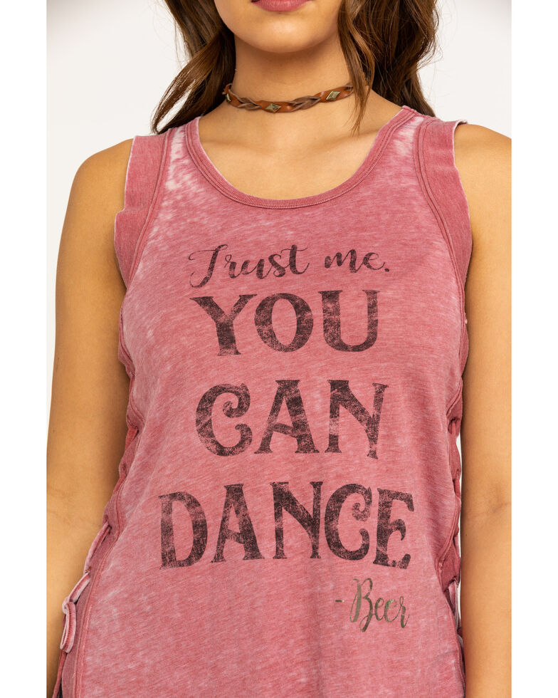 Shyanne Women's You Can Dance Muscle Tank, Rust Copper, hi-res