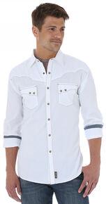 Wrangler Men's Retro Solid White Shirt, White, hi-res