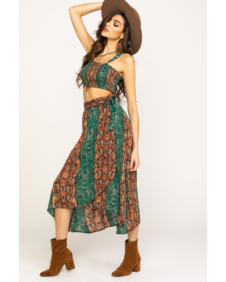 Free People Women's Tropical Date Set, Green, hi-res