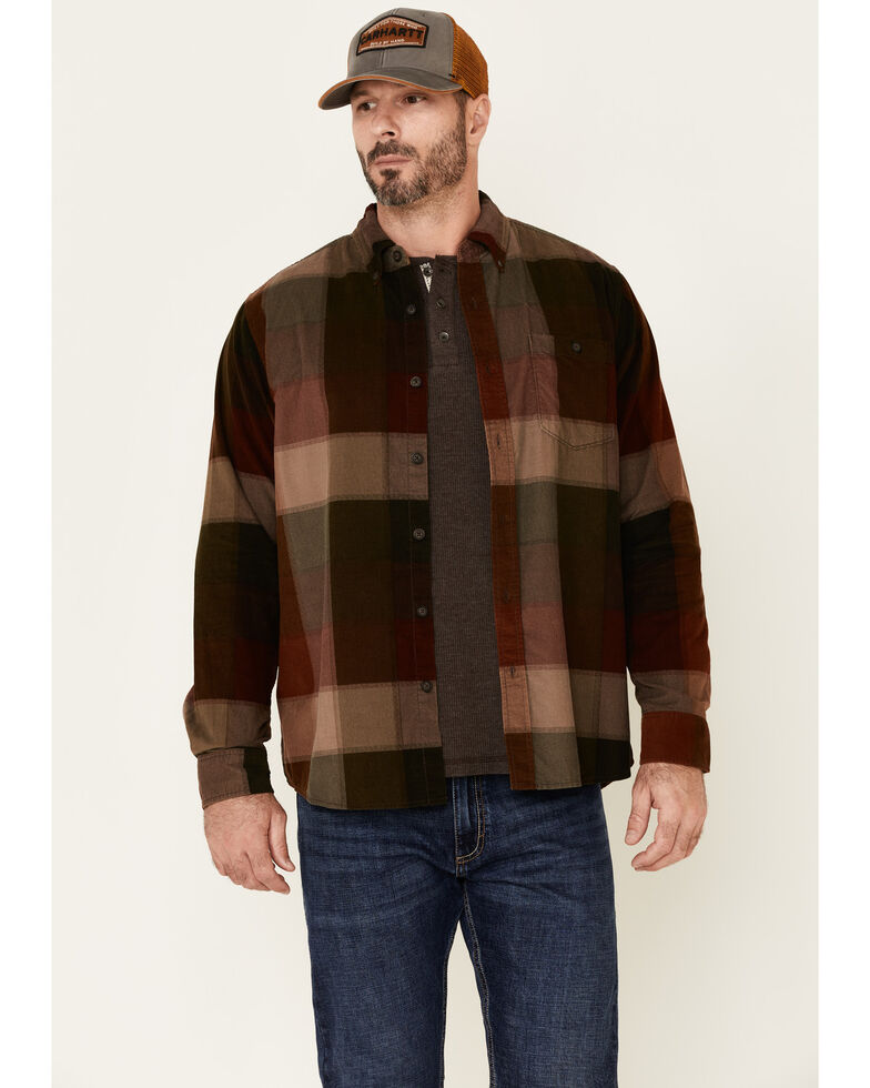 North River Men's Ganache Multi Large Plaid Corduroy Long Sleeve Western Shirt , Multi, hi-res