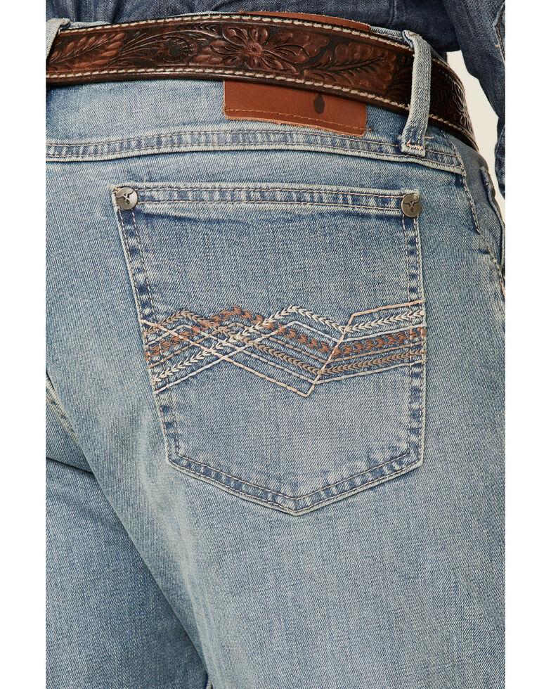 Wrangler 20X Men's Splash Light Wash Stretch Vintage Slim Bootcut Jeans , Blue, hi-res