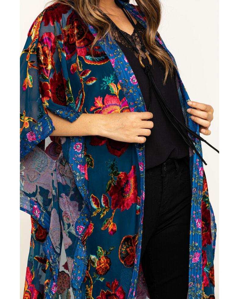 Aratta Women's Royal Blue Duster, Blue, hi-res