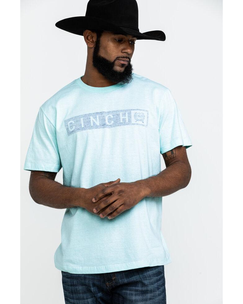 Cinch Men's Light Blue Logo Graphic Short Sleeve T-Shirt , Light Blue, hi-res