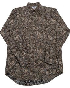 Schaefer Outfitter Men's Black Frontier Paisley Western Snap Shirt, Black, hi-res