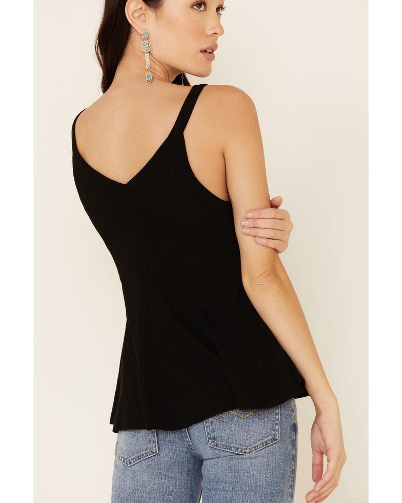 Idyllwind Women's Godet Rib-Knit Tank Top , Black, hi-res