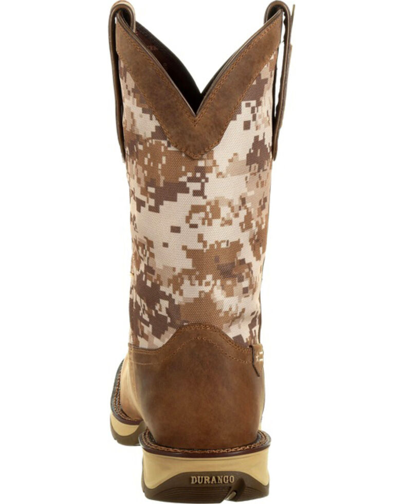 Rebel by Durango Men's Brown Desert Camo Western Boots - Square Toe , Brown, hi-res