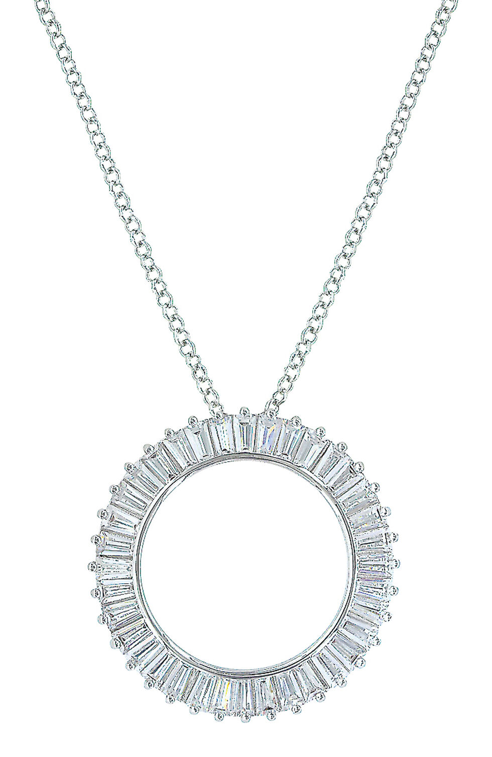 Montana Silversmiths Women's Twilight Halo Circle Necklace , Silver, hi-res