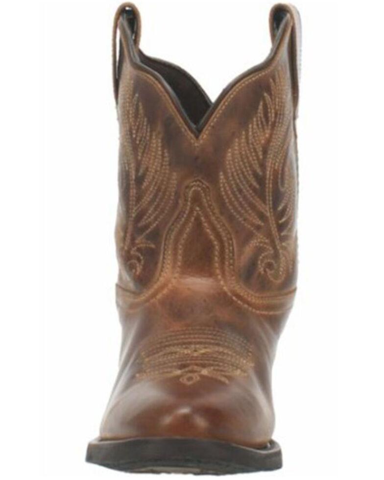 Laredo Women's Brown Shortie Western Booties - Round Toe, Brown, hi-res