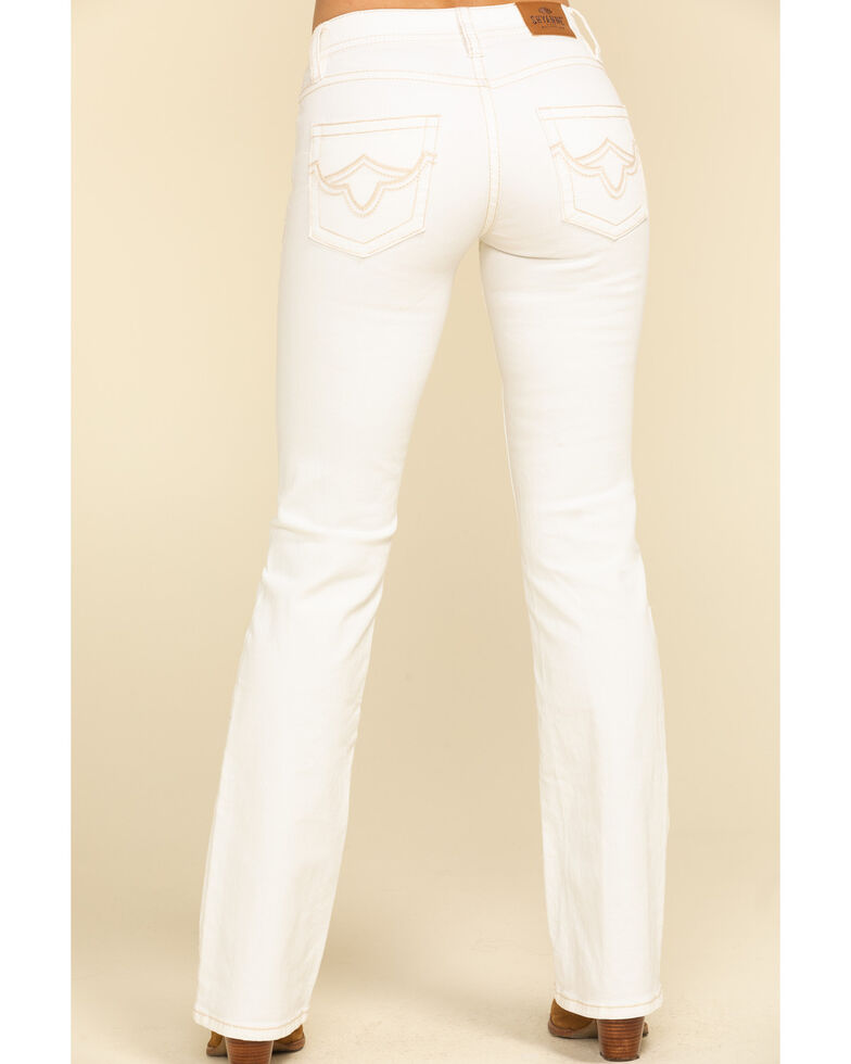 Shyanne Life Women's White Riding Bootcut Jeans, White, hi-res