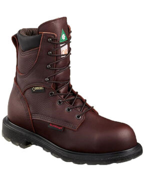 Red Wing Men's Supersole 2.0 Waterproof Work Boots - Steel Toe, Brown, hi-res