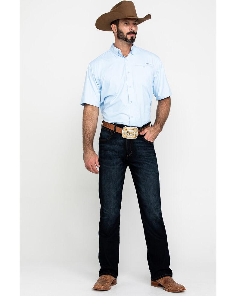Ariat Men's Blue Cloud Solid VentTEK Short Sleeve Western Shirt , Blue, hi-res