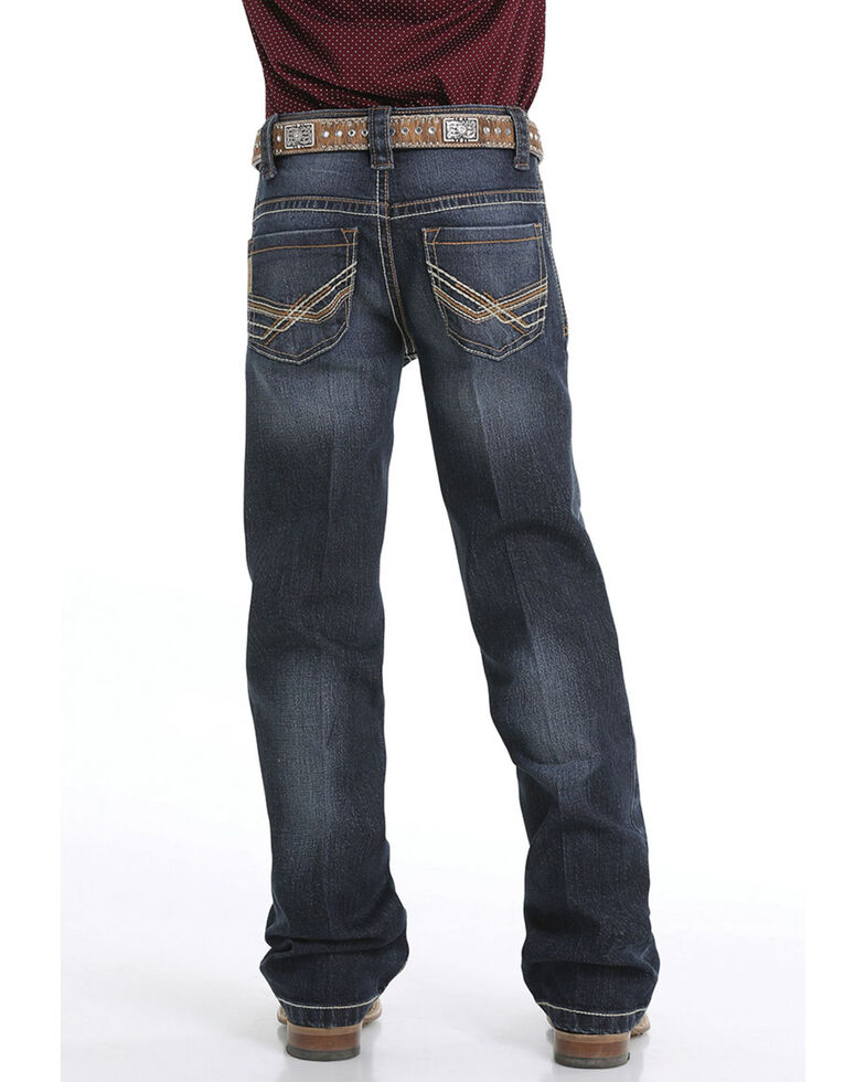 Cinch Boys' 4-7  Performance Denim Relaxed Bootcut Jeans, Indigo, hi-res