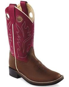 Old Gringo Boys' Ultra-Flex Western Boots - Wide Square Toe, Black, hi-res