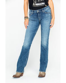 c4059c132d1e Silver Women s Elyse Mid-Rise Curvy Relaxed Slim Boot Cut Jeans