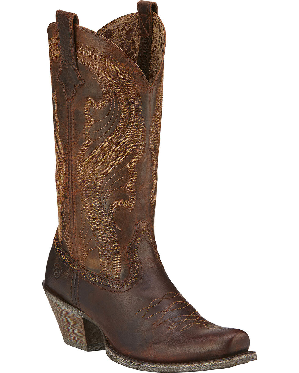 Ariat Lively Cowgirl Boots - Square Toe, Brown, hi-res