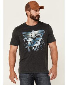 Flag & Anthem Men's Burnout Charcoal Desert Son Lightning Graphic Short Sleeve T-Shirt , Charcoal, hi-res
