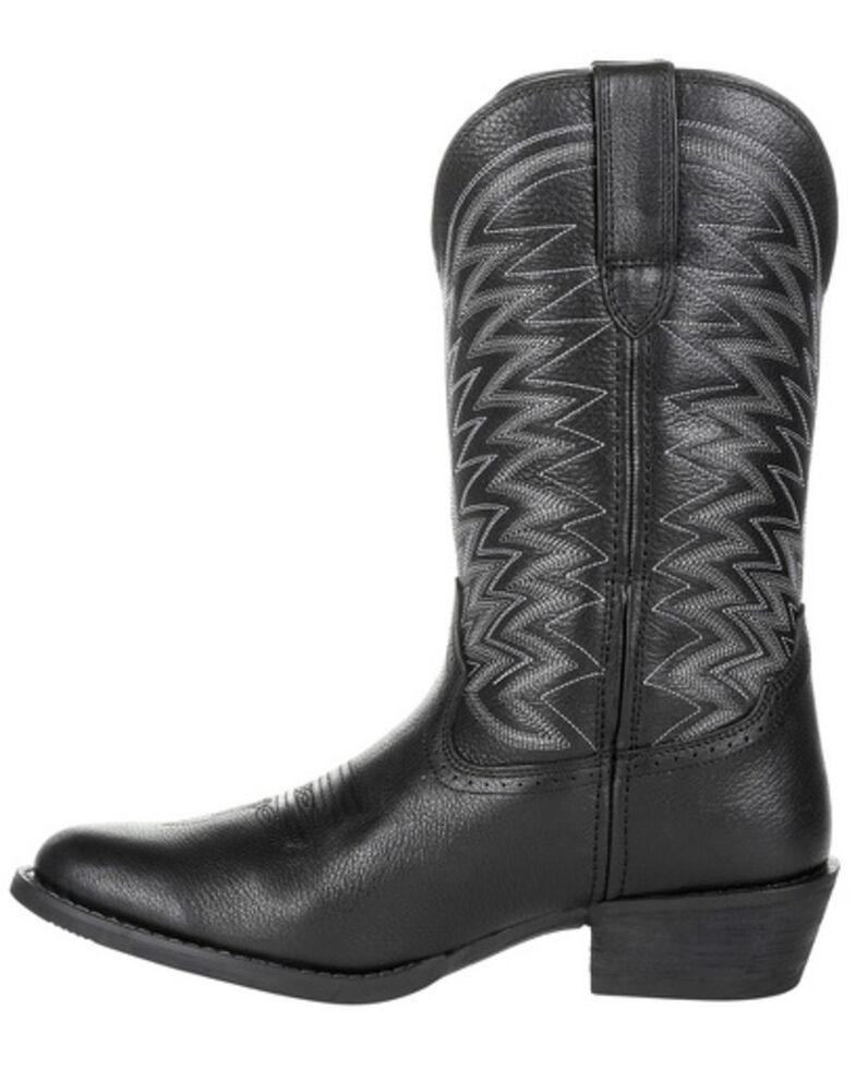 Durango Men's Rebel Frontier Western Boots - Round Toe, Black, hi-res