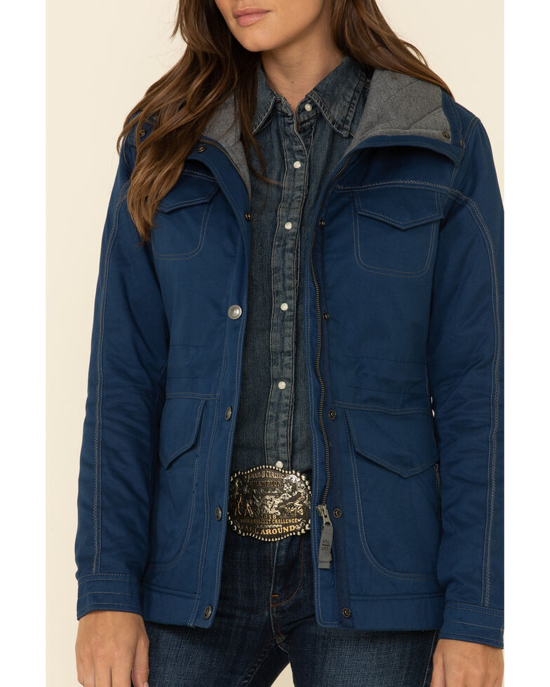 STS Ranchwear Women's Blue Swayzi Work Coat, Blue, hi-res