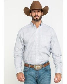 Ariat Men's Lynwood Plaid Long Sleeve Western Shirt - Big , White, hi-res