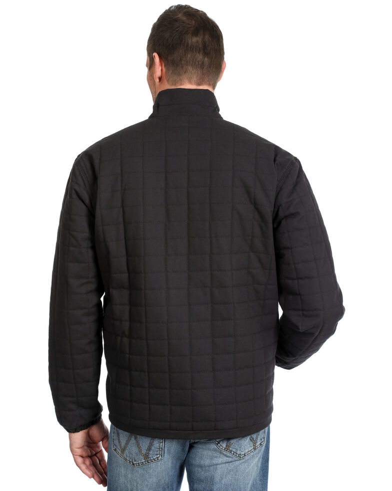 Wrangler Men's Black Chore Ripstop Quilted Coat , Black, hi-res