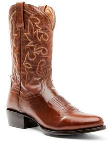 Dan Post Men's Cognac Western Boots - Round Toe, Cognac, hi-res