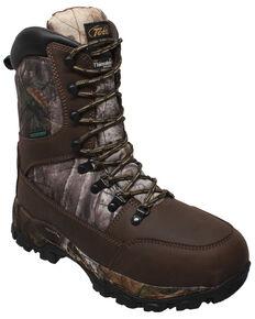 Tecs Men's Brown Camo Lace-Up Work Boots - Soft Toe, Brown, hi-res