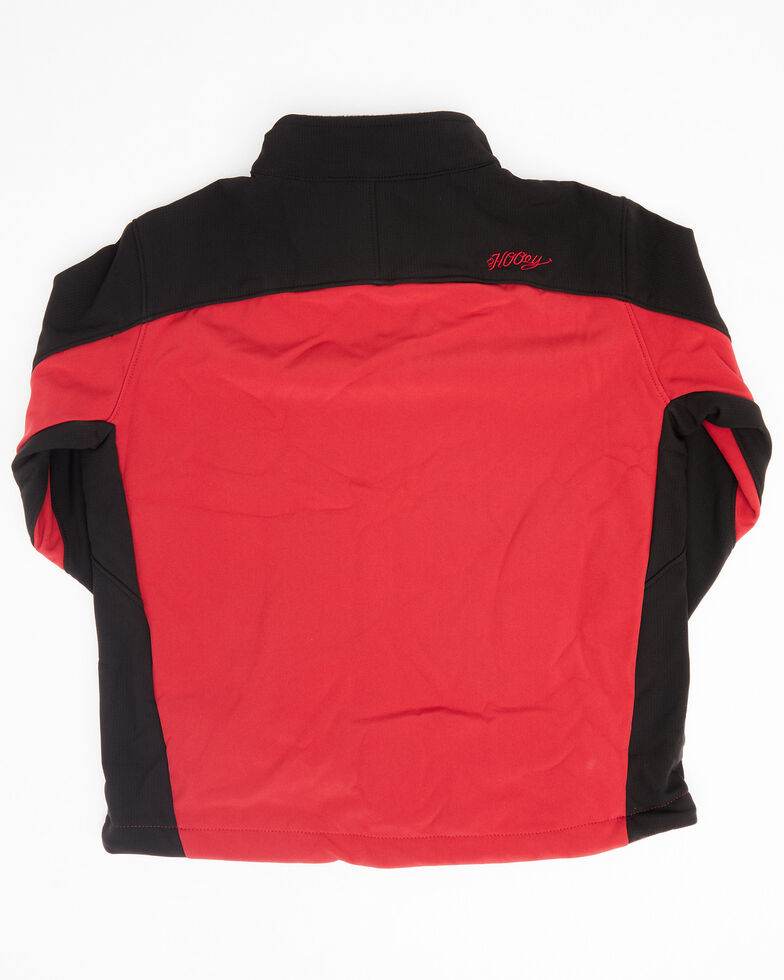 HOOey Boys' Red Colorblock Logo Zip-Front Softshell Jacket , Red, hi-res