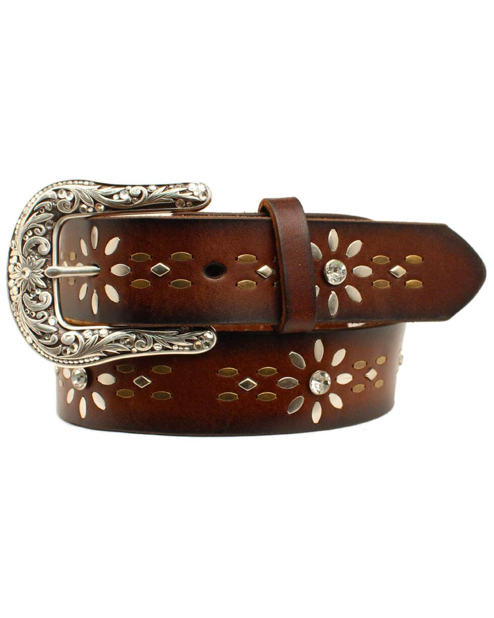 Idyllwind Women's Floral Tooled Belt, Brown, hi-res