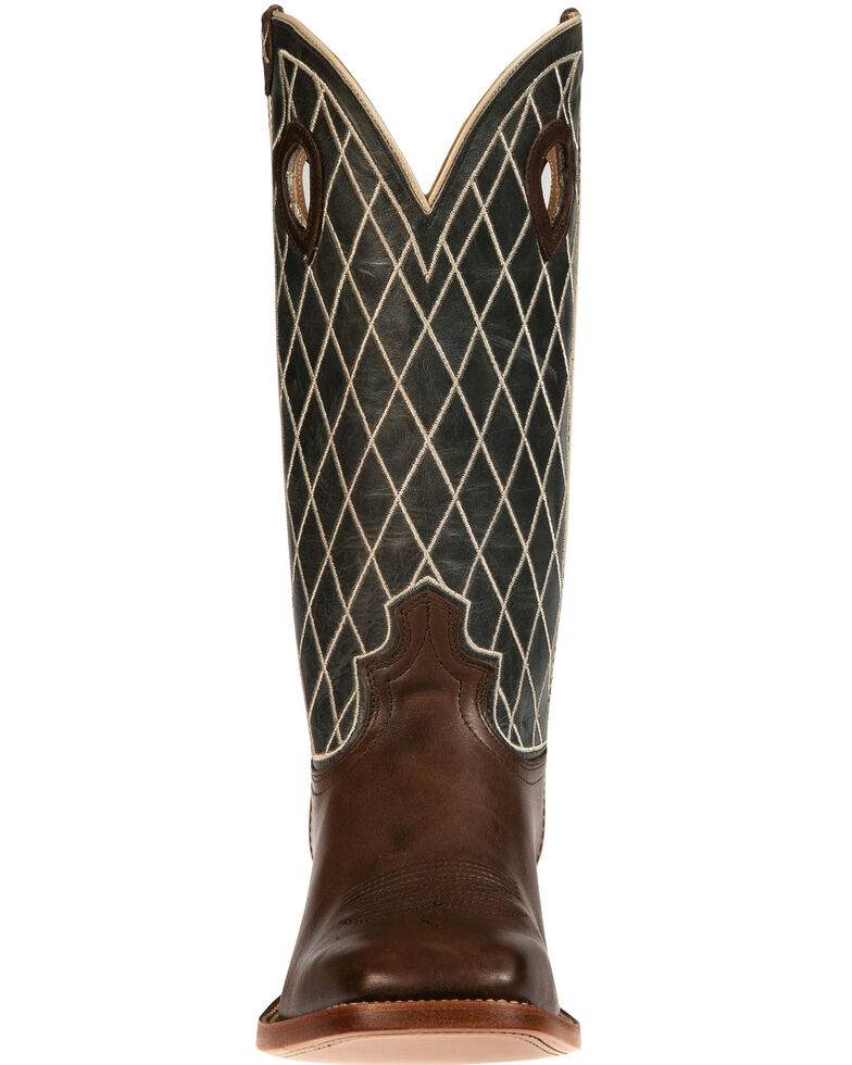 Twisted X Men's Rough Stock Western Boots - Wide Square Toe, Lt Brown, hi-res