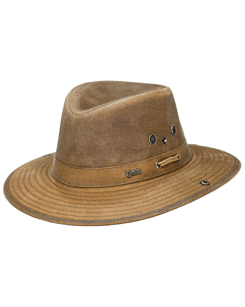 Outback Trading Co. Oilskin River Guide Hat, Tan, hi-res