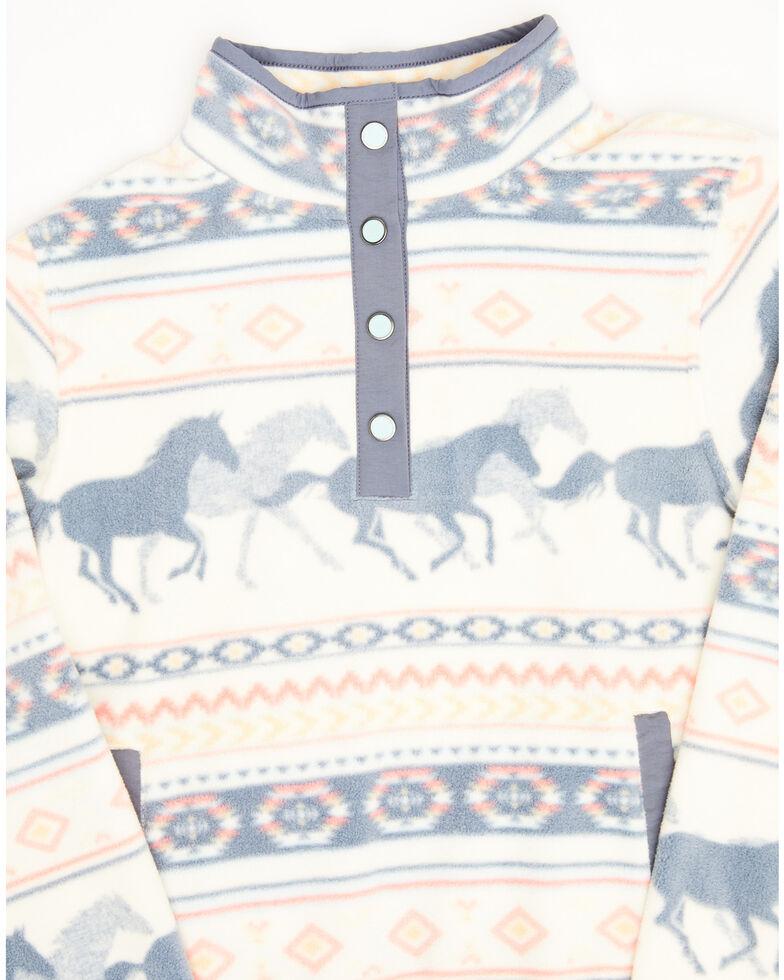 Cruel Girl Girls' Horse Print Fleece Pullover, , hi-res