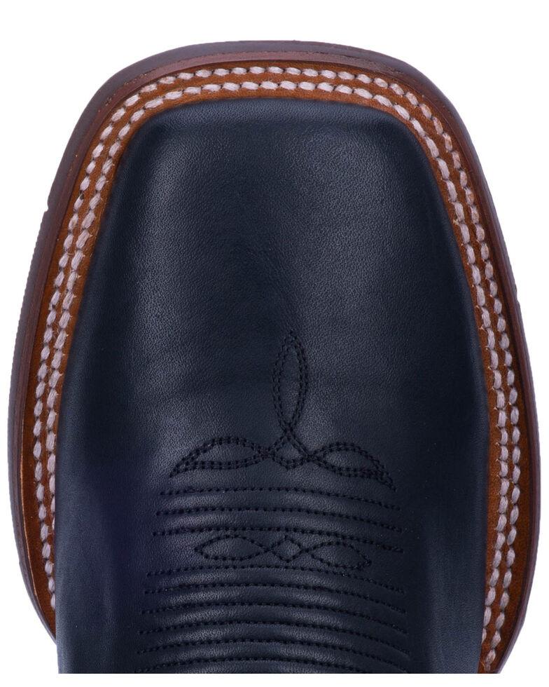 Dan Post Men's Thin Red Line Western Boots - Wide Square Toe, Black, hi-res
