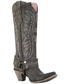 Junk Gypsy by Lane Women's Vagabond Western Boots - Snip Toe, Black, hi-res