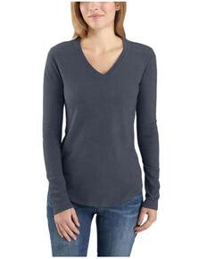 Carhartt Women's Bluestone Relaxed Long Sleeve Work T-Shirt , Blue, hi-res