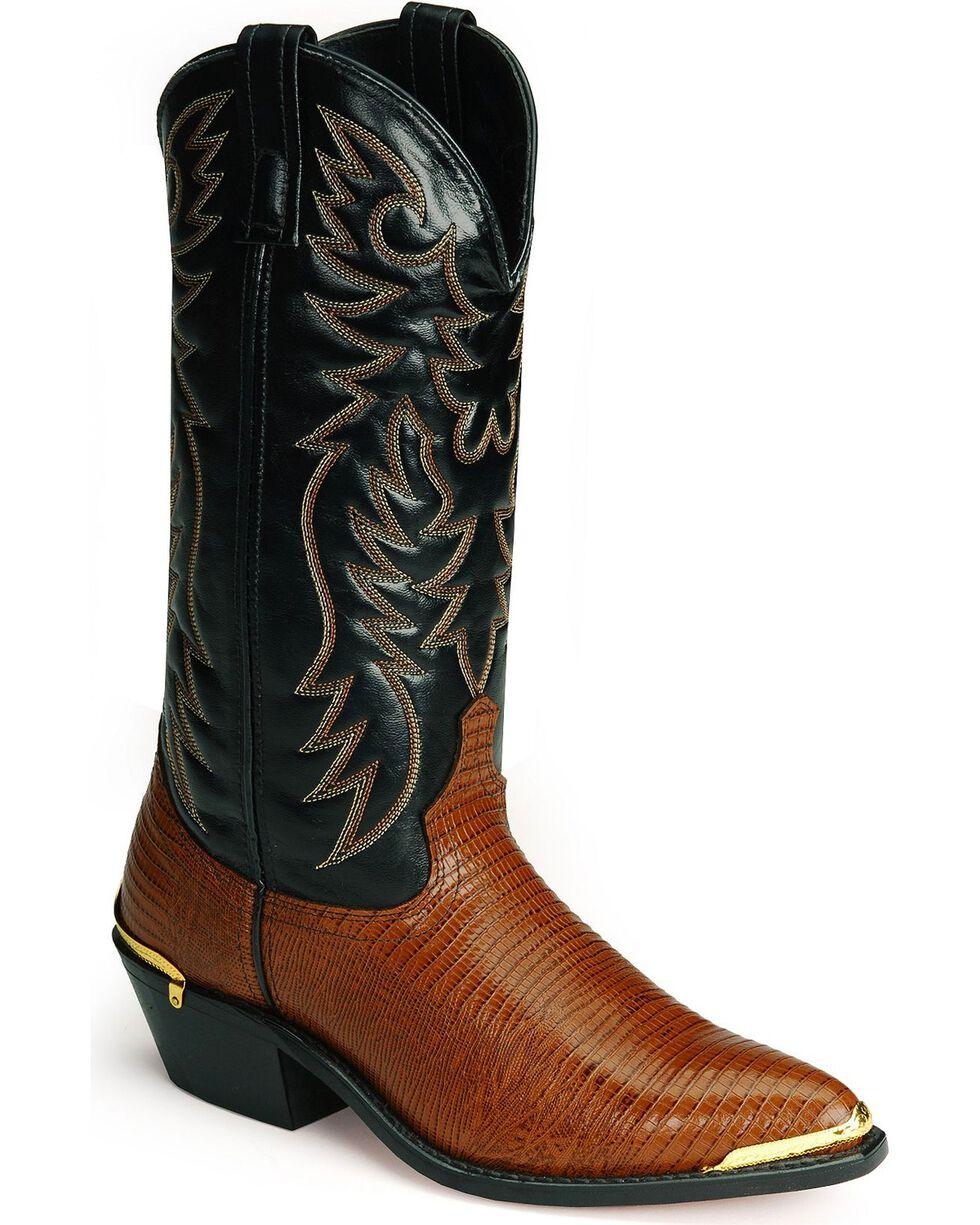 Laredo Lizard Print Western Boots, Peanut, hi-res