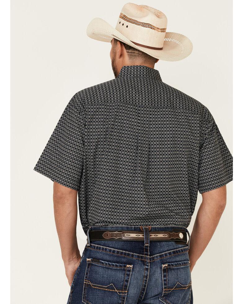 Cinch Men's Black Geo Print Short Sleeve Western Shirt , Black, hi-res