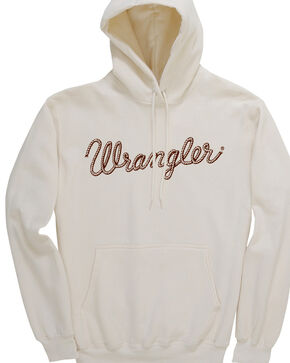 Wrangler Women's Western Fashion Hooded Sweashirt, Cream, hi-res