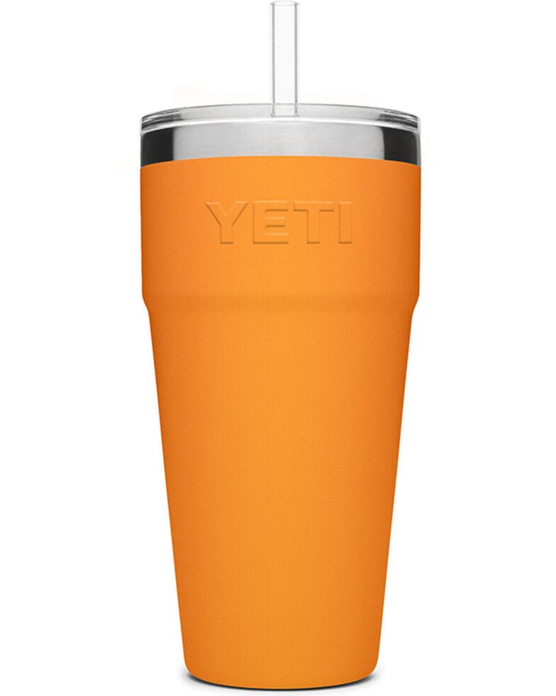 Yeti Rambler 26oz Orange Straw Cup, Orange, hi-res