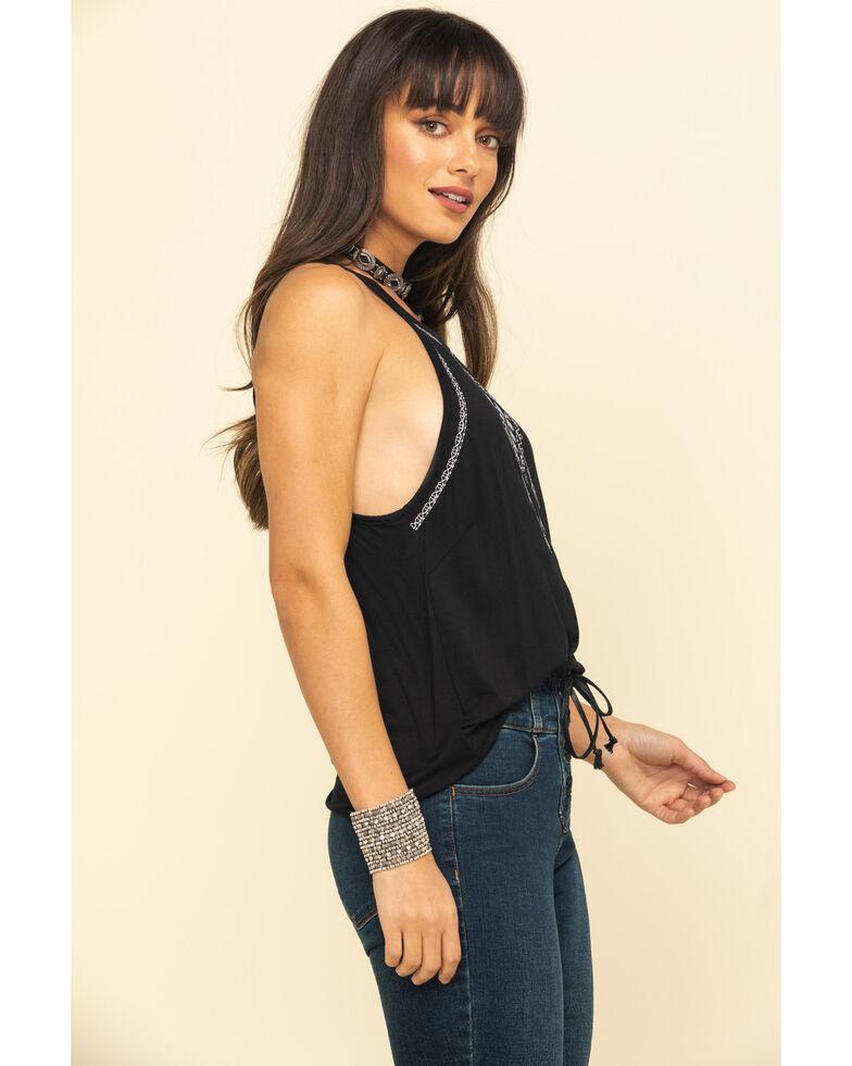 Rock & Roll Cowgirl Women's Black Dreamcatcher Tank Top, Black, hi-res
