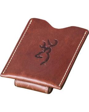 Browning Men's Cognac Leather Money Clip Wallet, Brown, hi-res