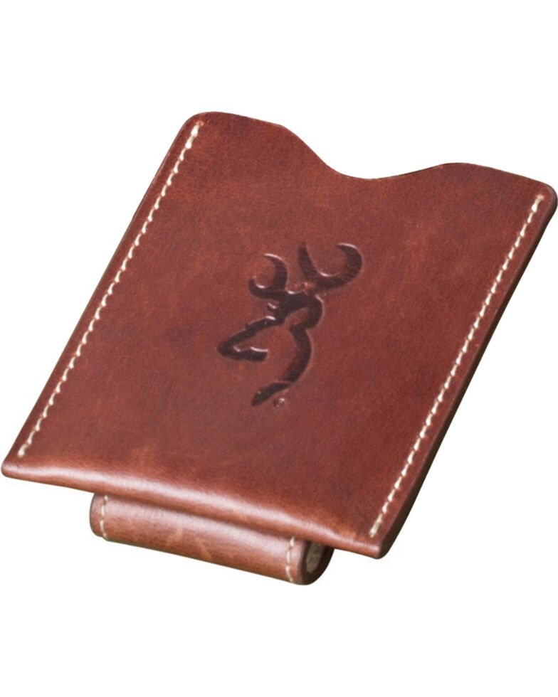 c68601ee8c34 Browning Men s Cognac Leather Money Clip Wallet - Country Outfitter